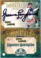 2008 SELECT NRL IMMORTALS SIGNATURE: GRAEME LANGLANDS #88/125 REDEMPTION DRAGONS