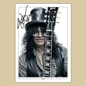 SLASH Guns n Roses (11) Signed Reproduction Autograph Photo Print A4