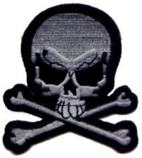 """Pirate Skull/X (Black/White) Embroidered Patches 3""""x2.75"""""""