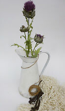 Artificial Scottish Thistle Flower Cynara Purple With 3 Heads wedding birthday.