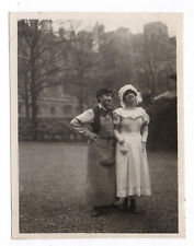 PHOTO ANCIENNE Costume Déguisement Vers 1930 Travesti Drôle Fête Déguisé Couple