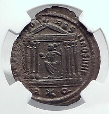 CONSTANTINE I the GRTEAT as Caesar Ancient 307AD Roman Coin TEMPLE NGC i81332