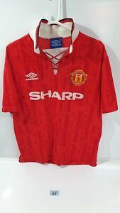 Man Utd 1992 1993 1994 Home Umbro Football Shirt L large retro (42)