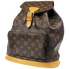LOUIS VUITTON Montsouris GM Backpack Bag Monogram Brown M51135 Authentic #A269 M