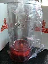 FOUR BUDWEISER RED LIGHT GOAL-SYNCED GLASSES- SYNC TO ANY NHL TEAM