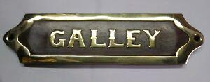 Nautical Sailor Plaque Sign Galley Wood Brass Beach Boat Ship Sea