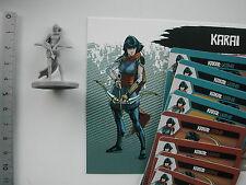 KARAI MINIATURE + CARDS  / TEENAGE MUTANT NINJA TURTLES TMNT/22