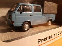 VW T3a Doppelkabine Pritschenwagen blau 1/43 (027)