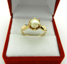Vintage 10k Yellow Gold Pearl Ladies Ring size 8.5