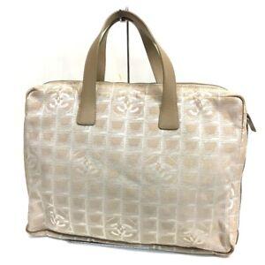 CHANEL A15974 New travel line Briefcase Business bag Nylon jacquard Beige