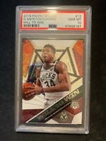 2019-20 PANINI MOSAIC GIANNIS ANTETOKOUNMPO WILL TO WIN CARD PSA 10 GEM MINT