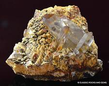 Smoky quartz crystal cluster feldspar matrix Mt Malosa Malawi Rauchquarz 6.4cm