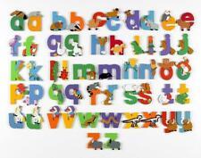 Vinsani Wooden Jungle Animal Lower Case Alphabet Letters Personalised Door Name