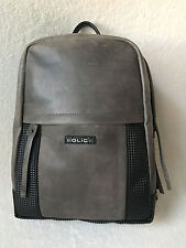 Police Brand Designer Armed Pyramid Grey Leather Back Pack Backpack Bag *NEW*