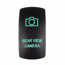 Laser Waterproof Rocker Switch Push Button GREEN LED Rear View Camera Backlit