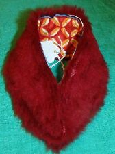 "Thin Maroon FauxFur Stole & Geometric 18"" Supersize Barbie Tiffany Taylor SSC271"