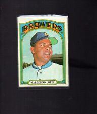 1972 Topps Baseball Set MARCELINO LOPEZ # 652 NICE CARD!