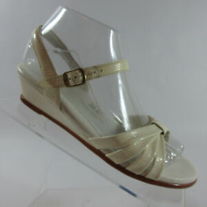 SAS Strippy White/Cream Leather Comfort Ankle Strap Sandals Womens Size 7 N