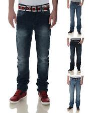 Crosshatch Fashion Jeans Men's New Vintage Faded Denim Pants