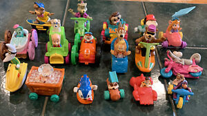 Vintage Lot Of 17 McDonalds Happy Meal Toys 1991-1993 Variety On Wheels.