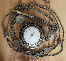 George Prior Ottoman Triple Case Silver Fusee Verge Pocket Watch Very Beautiful