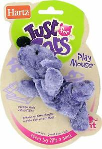 HARTZ PET JUST FOR CATS TOY PLAY MOUSE ASSORTED COLORS - VERY POPULAR CHENILLE