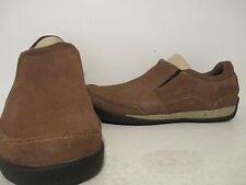 Simple Mens Andes Casual Leather Slip On Loafer Shoes Brown Size 7 M