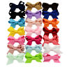 20PCS Baby Girls Hair Bows Boutique Alligator Clip Grosgrain Ribbon Hairpins  TR