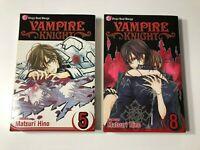 Vampire Knight Shojo Beat Manga Books 5 & 8 Matsuri Hino Shonen English *EEUC