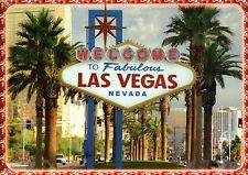 Welcome To Fabulous Las Vegas Nevada Sign LV Boulevard South Casinos -- Postcard