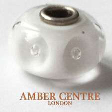 GENUINE TROLLBEADS MURANO GLASS CHARM- WHITE BUBBLES - 61301  RRP £25!!!