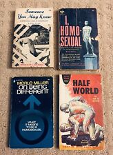 Gay Collectors Items Rare Vintage 4 Paperback Lot