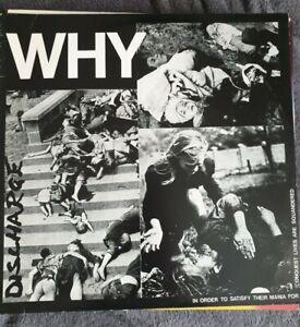"DISCHARGE Why 12"" vinyl original issue"