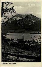 Schliersee Bayerische Alpen Bayern AK 1935 Kirche See Berge Foto Roth gelaufen