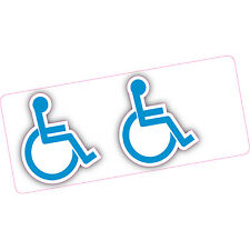 2 x Disabled Blue Badge Cut Out Logo 100x86mm Car Home Motobility Disability