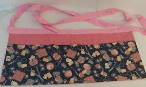 Homemade Apron Seamstress Waitress Hairdresser 3 Pocket Money Tool Belt New Pink