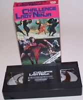 Vintage 1987 Challenge of the Lady Ninja VHS Video Cassette Movie - GoodTimes