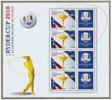 France neuf ** 2018 Bloc Feuillet RYDER CUPla légende du golf