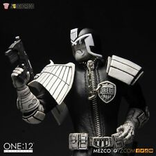 "Mezco ONE:12 JUDGE DREDD EXCLUSIVE 6"" FIGURE Black & White Variant NYCC 2015"
