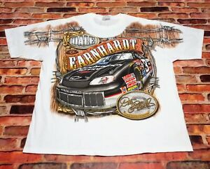 VTG NASCAR #3 Dale Earnhardt All Over Print T Shirt White XL/2XL Intimidator