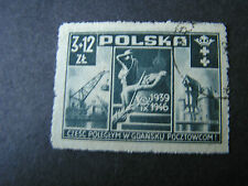 *POLAND, SCOTT # B48, COMPLETE SET SEMI POSTAL1946 DANZIG BOMBING ISSUE USED