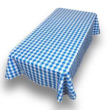 "PVC Waterproof Indoor/Outdoor Check Vinyl Flannel Backed Tablecloth 52"" x 70"""