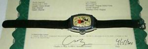 "SCARCE N.MINT ALL ORIGINAL DISNEY1939 INGERSOLL MICKEY MOUSE WATCH""+SERVICED+COA"