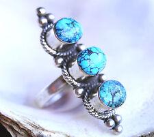 Silberring Handarbeit Türkis Lang 60 Ring Silber Antik Vintage Design Muster