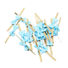 20x Assorted Color Metallic Twist Tie Bow Cello Cookie Bag Party Supply Jian