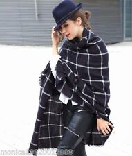 ZARA BLACK WHITE CHECK SCARF SHAWL REF 4219 201