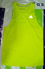 Used adidas Response Singlet track & field running marathon Small Yellow BS3259