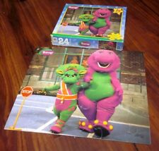 BARNEY & FRIENDS jigsaw puzzle purple dinosaur PBS Baby Bop crossing guard 1999