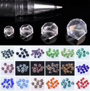 Helix Twist Faceted Crystal Glass Loose Crafts Beads lot 4mm 6mm 8mm 10mm 12mm