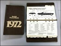 1972 Buick Dealer Fact Data Book Brochure Catalog  - Riviera LeSabre Electra